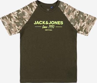 Jack & Jones Junior Shirt 'SOLDIER' in de kleur Beige / Lichtbruin / Kaki / Olijfgroen / Riet, Productweergave