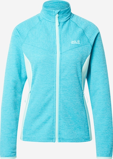 JACK WOLFSKIN Sports sweat jacket 'ACTIVE TONGARI' in Light blue / White, Item view