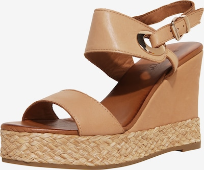 INUOVO Sandalen met riem in de kleur Lichtbruin, Productweergave