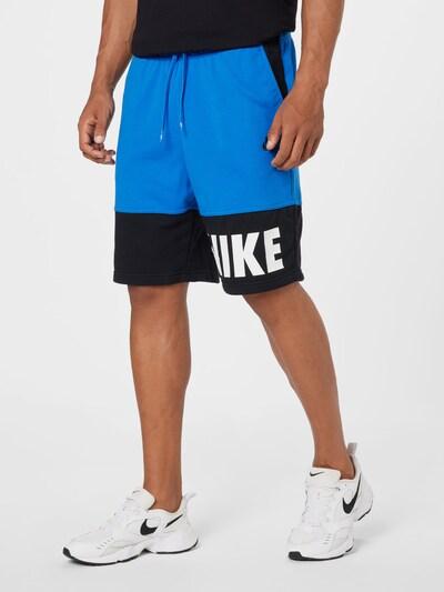 Nike Sportswear Nohavice - modrá / tmavomodrá / biela, Model/-ka