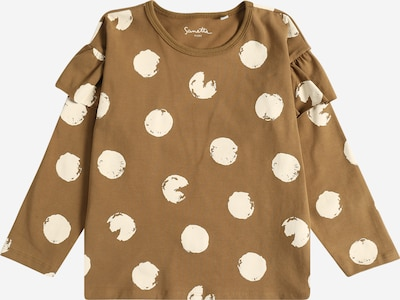 Sanetta Pure Shirt in beige / brokat, Produktansicht