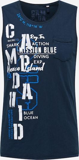 CAMP DAVID T-Shirt en bleu marine / bleu ciel / blanc, Vue avec produit