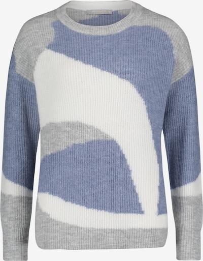 Betty & Co Strickpullover mit Muster in blau / grau / weiß, Produktansicht
