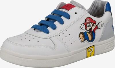 GEOX Sneaker 'Djrock' in blau / gelb / rot / weiß, Produktansicht