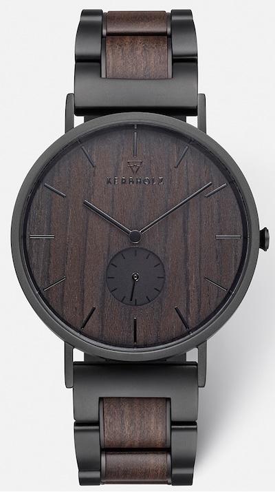Kerbholz Uhr 'Fritz Darkwood' in schwarz, Produktansicht