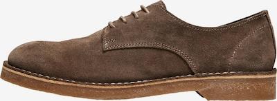 SELECTED HOMME Chaussure à lacets 'Riga' en brun foncé, Vue avec produit
