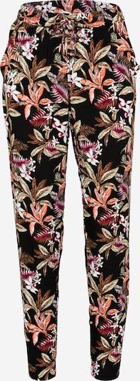 ONLY Панталон 'NOVA' в светлокафяво / светлозелено / оранжево / тъмночервено / бяло: Изглед отпред