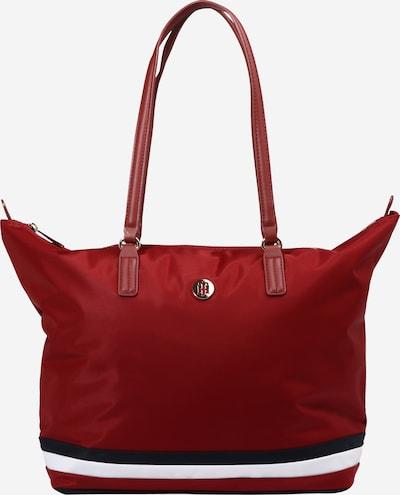 TOMMY HILFIGER Shopper en azul oscuro / rojo oscuro / blanco, Vista del producto