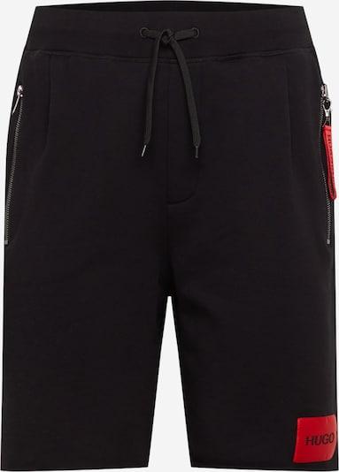 HUGO Broek 'Dactus' in de kleur Lichtrood / Zwart, Productweergave