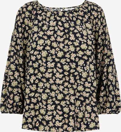OBJECT Bluse 'OBJANMIRA' in beige / dunkelblau / oliv / rosa, Produktansicht