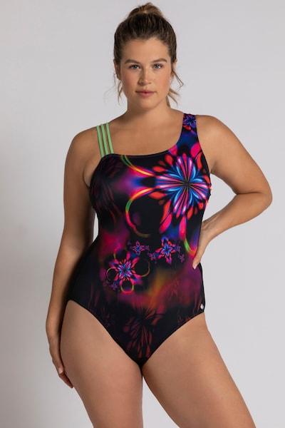 Ulla Popken Badpak in de kleur Gemengde kleuren / Zwart, Modelweergave