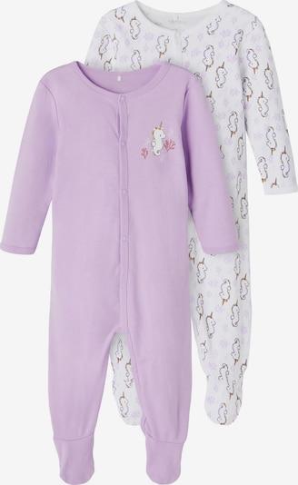 NAME IT Schlafanzug in goldgelb / helllila / schwarz / weiß, Produktansicht