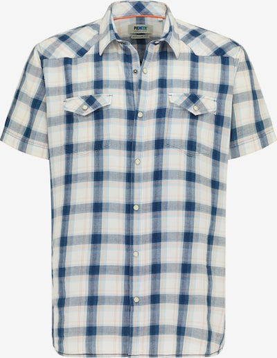 PIONEER Hemd in blau / hellgrau / koralle, Produktansicht