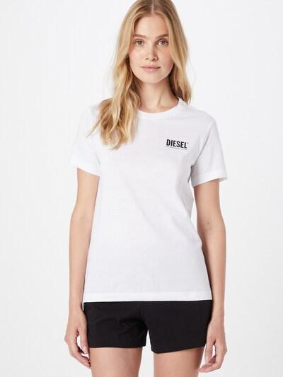 DIESEL Тениска 'SILY-INT' в черно / бяло: Изглед отпред