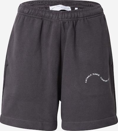 Pantaloni 'TAKE IT EASY' Comfort Studio by Catwalk Junkie pe negru / alb, Vizualizare produs