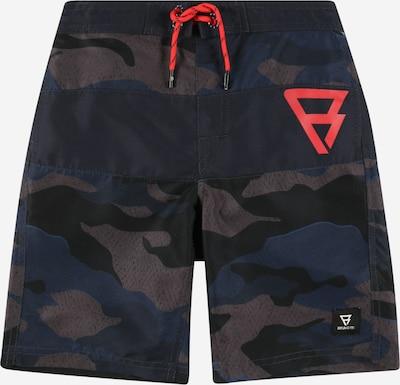 Brunotti Kids Kupaće hlače 'Raymond' u plava / tamno plava / smeđa / klasično crvena, Pregled proizvoda