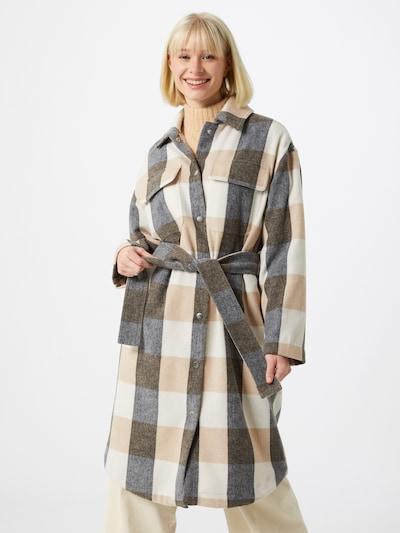 InWear Mantel in beige / schwarzmeliert / weiß, Modelansicht