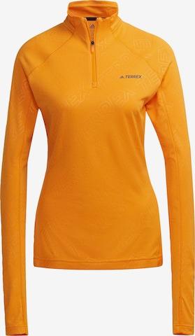 adidas Terrex Functioneel shirt in Oranje