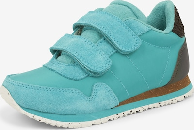 WODEN Sneaker 'Nor Suede' in türkis / braun, Produktansicht