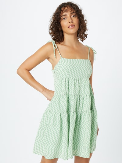Rochie de vară 'Sheryl' Fashion Union pe verde / alb, Vizualizare model