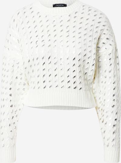Trendyol Pullover in silber / weiß, Produktansicht