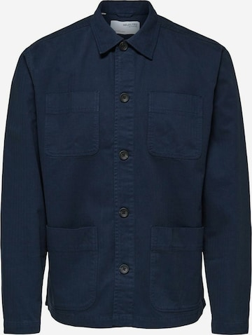 SELECTED HOMME Button Up Shirt in Blue