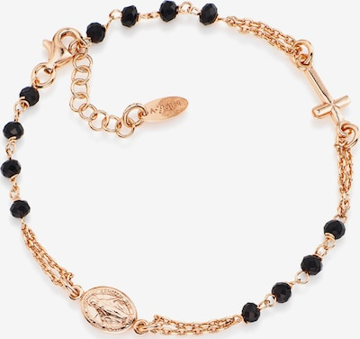 Amen Armband in rosegold / schwarz, Produktansicht