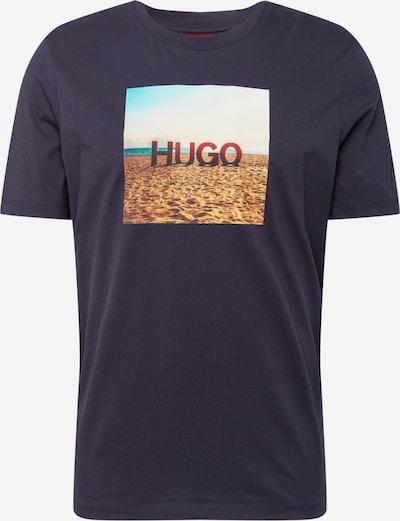 Tricou 'Doldplay' HUGO pe albastru marin / turcoaz / albastru deschis / galben miere / roșu carmin, Vizualizare produs