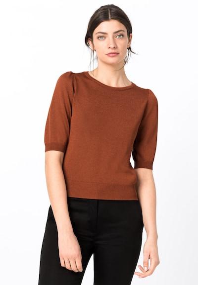 HALLHUBER Pullover in rostbraun, Modelansicht