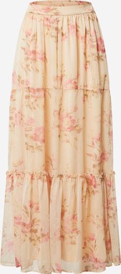 VILA Jupe en beige / marron / rose, Vue avec produit