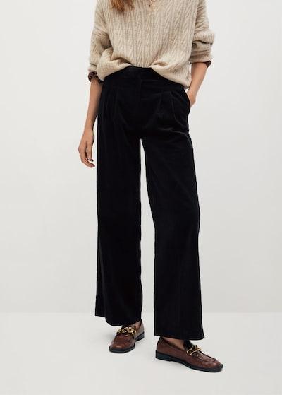 MANGO Pantalon à pince 'Wales' en noir, Vue avec modèle
