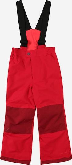 VAUDE Outdoorhose in rot / dunkelrot / schwarz, Produktansicht