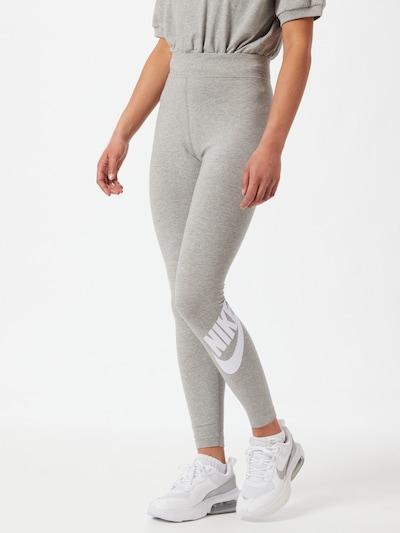 Nike Sportswear Leggings in graumeliert / weiß, Modelansicht