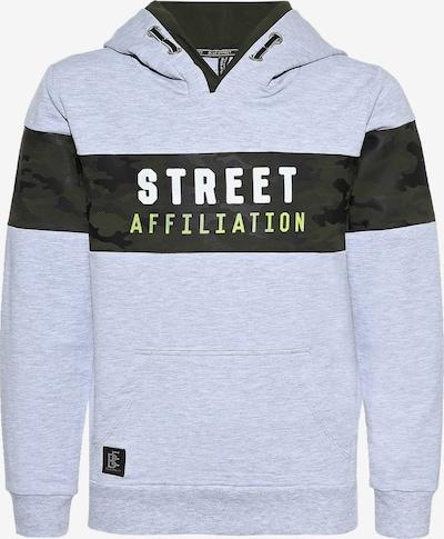 BLUE EFFECT Sweatshirt 'Street' in hellgrau / schwarz, Produktansicht