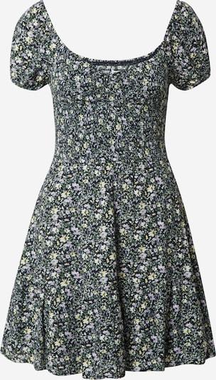 HOLLISTER Kleid in gelb / grün / lila / schwarz, Produktansicht