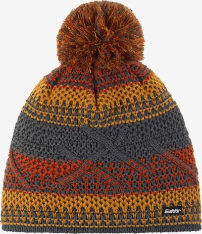 Eisbär Mütze in dunkelgrau / orange / orangerot, Produktansicht