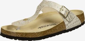 BIRKENSTOCK T-Bar Sandals 'Gizeh' in White