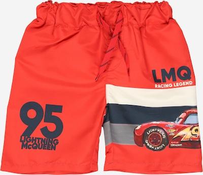 NAME IT Zwemshorts 'CARS MALACI' in de kleur Marine / Geel / Rookgrijs / Grenadine / Wit, Productweergave