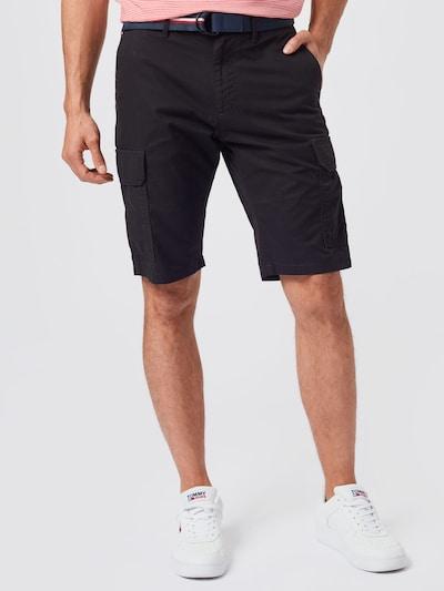 TOMMY HILFIGER Pantalon cargo 'JOHN' en noir, Vue avec modèle