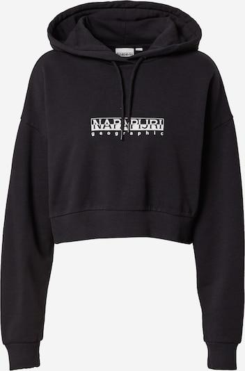 Bluză de molton NAPAPIJRI pe negru / alb, Vizualizare produs