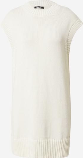 Gina Tricot Stickad klänning 'Lisa' i vit, Produktvy