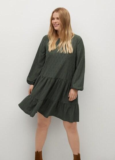 VIOLETA by Mango Kleid 'Rosita' in dunkelgrün, Modelansicht