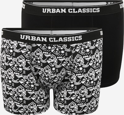 Urban Classics Plus Size Boxershort in schwarz / weiß, Produktansicht