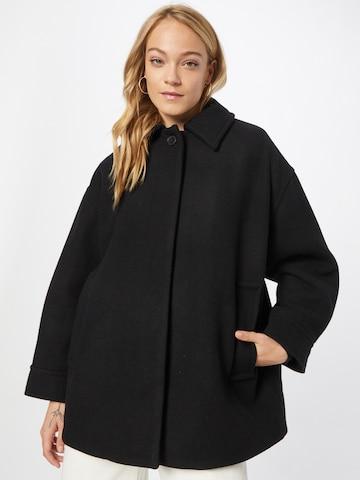 WEEKDAY Between-seasons coat in Black