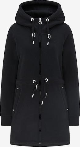 DreiMaster Maritim Zip-Up Hoodie in Black