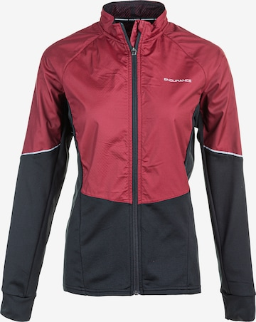 ENDURANCE Athletic Jacket 'JIGSAW W' in Red