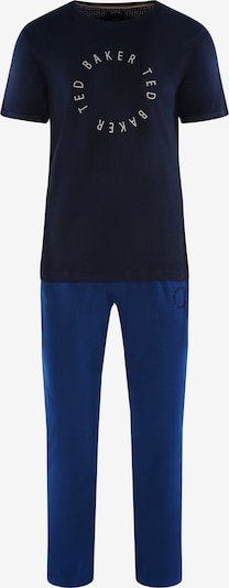 Ted Baker Kurzarm Pyjama 'Round Logo' in blau / dunkelblau, Produktansicht