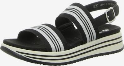 REMONTE Sandale in schwarz / weiß, Produktansicht