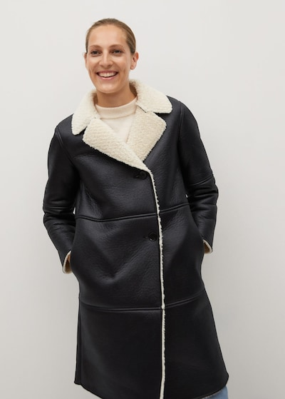 MANGO Mantel 'adriana-i' in schwarz, Modelansicht