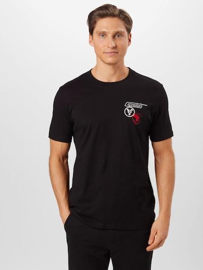 Marškinėliai 'Dulip' iš HUGO , spalva - raudona / juoda / balta: Vaizdas iš priekio